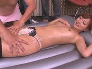 Naughty handjob session from Kokone Mizutaniasian schoolgirl, asian babe}