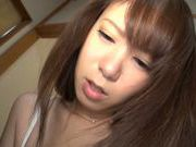 Pretty teen Riri Ouka gets boobs licked and pussy drilled
