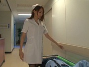 Japanese nurse enjoying horny male patient