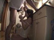 MILF Yuna Hasegawa Sucks Dick For A Facial In The Kitchen