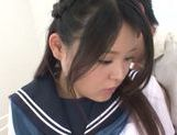 Remon Aisu does her best at cock sucking picture 14