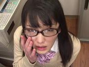 Pretty teen Nana Usami deepthroats guy and gets a facialcute asian, japanese pussy}