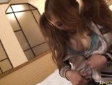 Japanese AV models getting a fucking in the hotel after a date