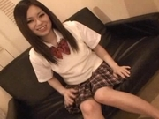 Japanese AV model is a naughty schoolgirl who likes a hard fucking