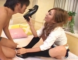 Miwa Yoshida Naughty Asian Model Likes Giving Blow Jobs picture 8
