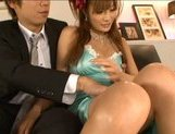 Kirara Asuka Asian doll is sexy in her evening dress picture 11