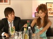 Kirara Asuka Asian doll is sexy in her evening dress