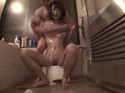 Busty Azusa Watabe gets creamed and enjoys headfuck