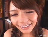Tina Yuzuki Lovely Asian Model Gives Hot Blowjobs picture 1