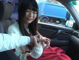 Kinky Arina Sakira enjoys sucking cock in car  picture 11