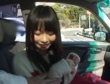 Kinky Arina Sakira enjoys sucking cock in car  picture 8