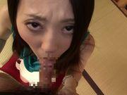 Amateur Asian housewife Mayumi Chikazawa gets cumshot
