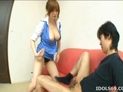 Rio Hamasaki Lovely Asian Model Has Nice Big Tits