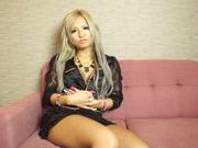 Blonde Japanese model Julia Tachibana enjoys amazing solo