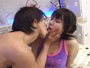 Ai Kousaki Naughty Asian model is getting a pussy poking