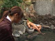 Horny Japanese loves it outdoor sex in the sun