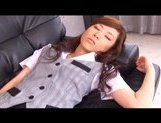 Keito Miyazawa Naughty Asian chick gets poked by big dildo picture 1