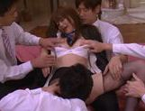 Group action with sexy chick Akiho Yoshizawa cock sucking picture 13