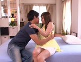 Sensual Yukino Azumi receives a big cock up her tight pussy picture 11
