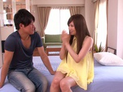 Sensual Yukino Azumi receives a big cock up her tight pussy