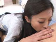 Talented Japanese milf Noa is banged and fed with semen
