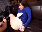 Hot looking Airu Oshima with huge boobs gets creamed pussy