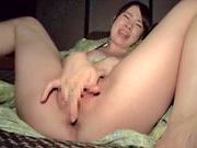 Riko Komori stroking her tight vagina in masturbationjapanese sex, asian pussy}