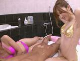 Rina Kato and friend fucked by customer in the bath picture 14