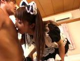 Big tits and sexy maid Yui Sakura hot and hardcore action picture 9