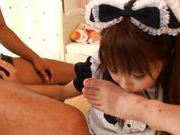 Big tits and sexy maid Yui Sakura hot and hardcore action