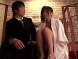 Flawless Japanese teen girl Haruki Satou fucked on the stairs