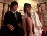 Flawless Japanese teen girl Haruki Satou fucked on the stairs picture 12