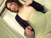 Busty japanese teen Airi loves playing with her clit