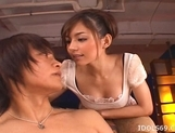 Tina Yuzuki Pretty Asian Model Enjoys Going For A Cock Ride picture 2