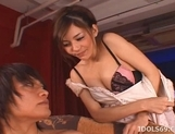 Tina Yuzuki Pretty Asian Model Enjoys Going For A Cock Ride picture 6