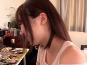 Astonishing foot licking for Maihana Natsu