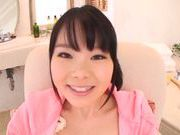 Horny Miyu Sakai likes to play with her twat