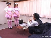 Manami Momosak Asian doll is a horny waitress