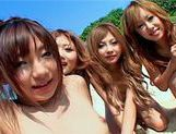 Shiho Kano Asian model and friends enjoy a fucking on the beachasian pussy, japanese porn, hot asian girls}