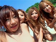 Shiho Kano Asian model and friends enjoy a fucking on the beachjapanese porn, japanese sex}