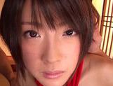 Asian teen Yuzu Ogura's shaved pussy fucked with toys