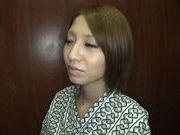 Japanese babe Risa Mizuki gives amazing blowjob