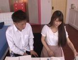 Naughty Japanese teen Ai Nakaidou rides hard boner picture 1