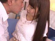 Naughty Japanese teen Ai Nakaidou rides hard boner