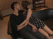 Dick riding by a hot MILF arousing Karen Aoki