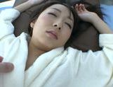 Japanese teen Chika Haruno with big tits rides impressive rod picture 3
