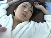 Japanese teen Chika Haruno with big tits rides impressive rod