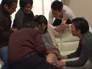 Wild group action of Asian babe Miku Sunohara and horny pals