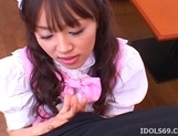 Nagisa Hot Asian waitress enoys a hard gangbang party picture 5