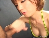 Ryo Tsujimoto Naughty Asian model likes sucking cock and getting facials picture 6